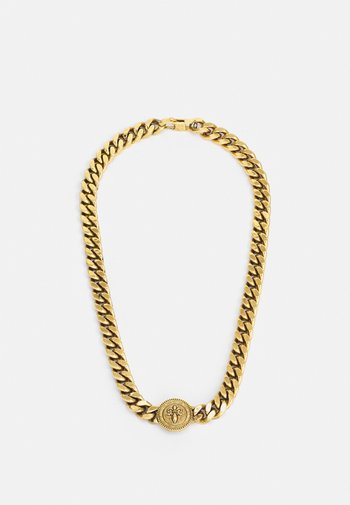 CURB DOTTED UNISEX - Necklace - antique gold-coloured