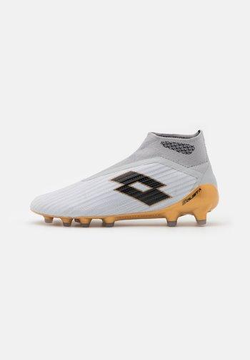 SOLISTA 100 III GRAVITY FG - Moulded stud football boots - vapor gray/all black/light platino