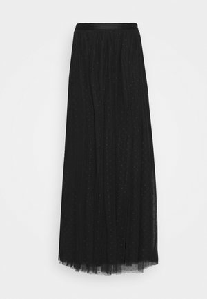 KISSES MAXI SKIRT EXCLUSIVE - Maxi skirt - black