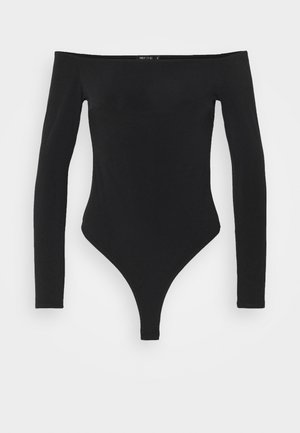 OFF SHOULDER BODY - Long sleeved top - black