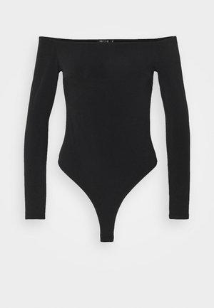 OFF SHOULDER BODY - Long sleeved top - black