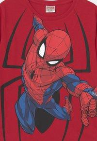 Lindex - MINI TOP MARVEL SPIDERMAN - Long sleeved top - dark red - 2