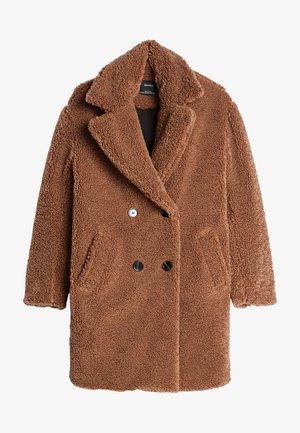 MIT LAMMFELLIMITAT - Zimní kabát - ochre