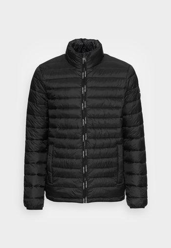 REVERSIBLE QUILTED JACKET - Light jacket - black