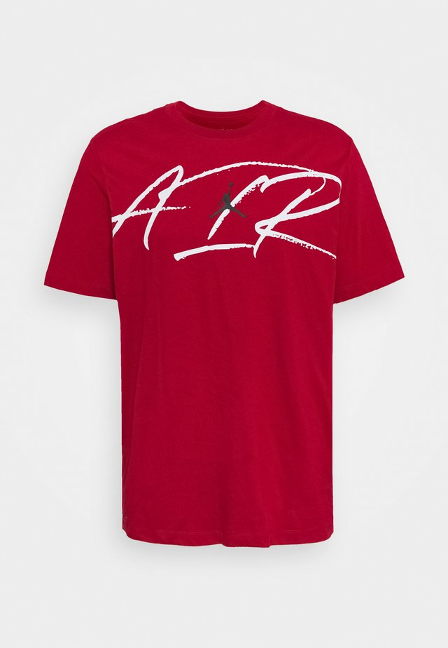 SCRIPT AIR DEFECT CREW - T-shirt con stampa - gym red/white/black