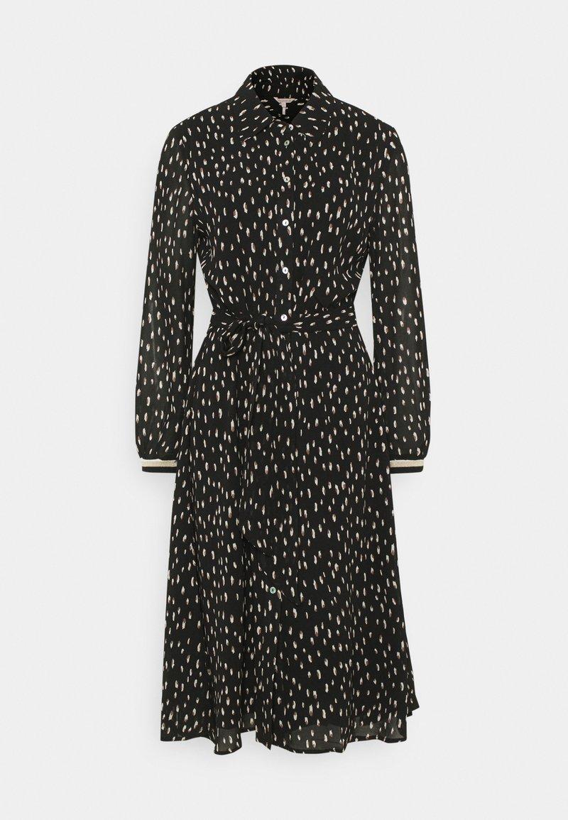 Esqualo - DRESS DOUBLE DOT - Day dress - black