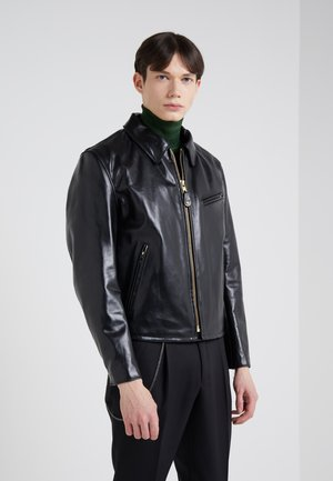 RETRO JACKET - Leather jacket - black