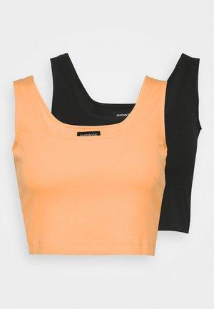 SQUARE NECK CROP 2 PACK - Top - orange/black
