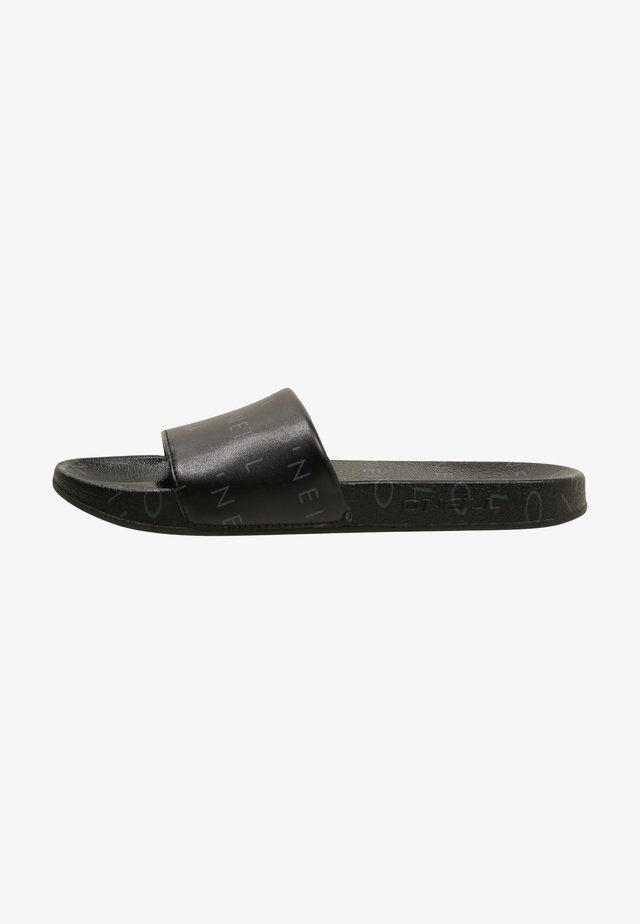 Badslippers - black with