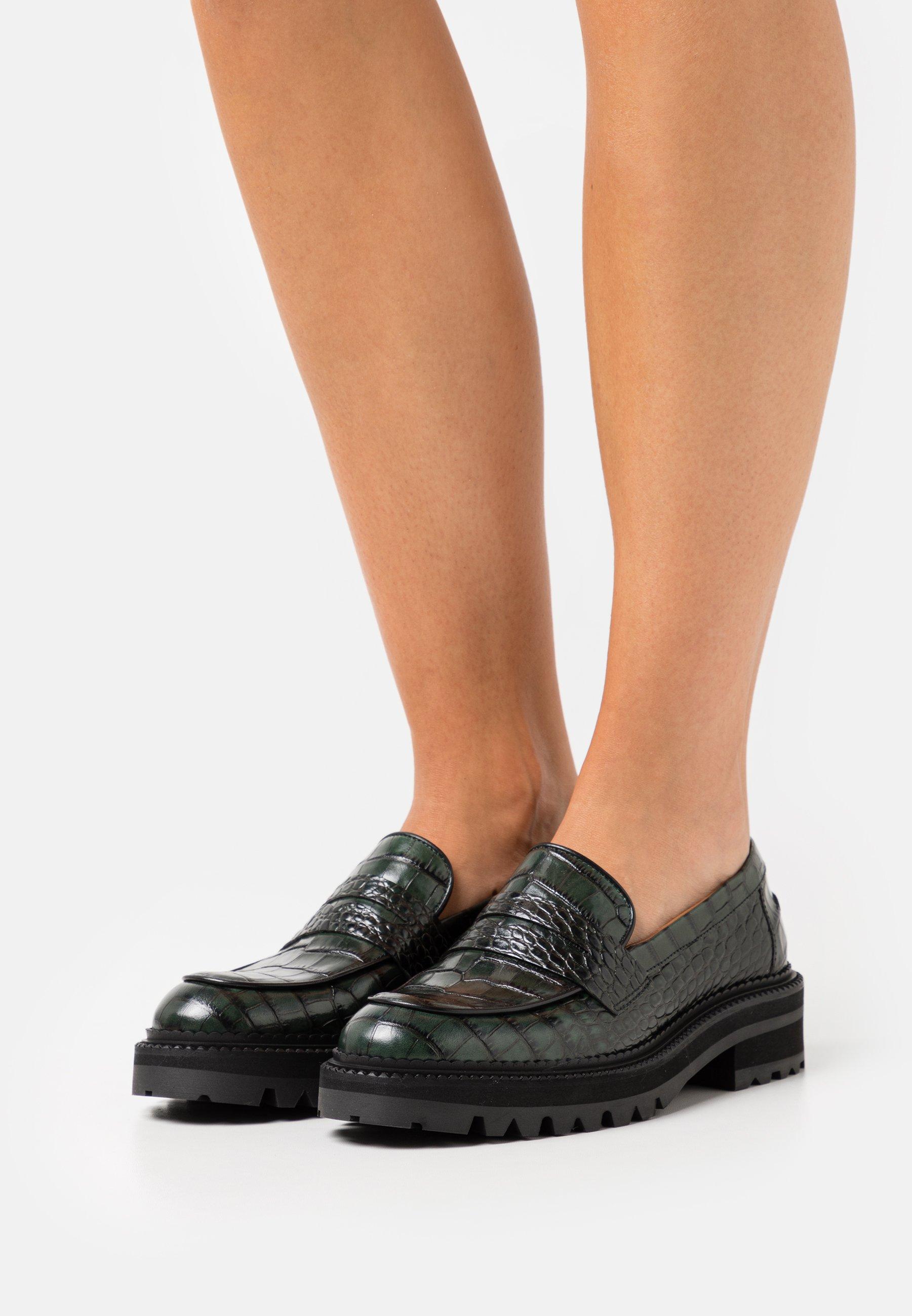 Women Slip-ons - green