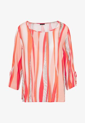 Blouse - coral/orange/taupe