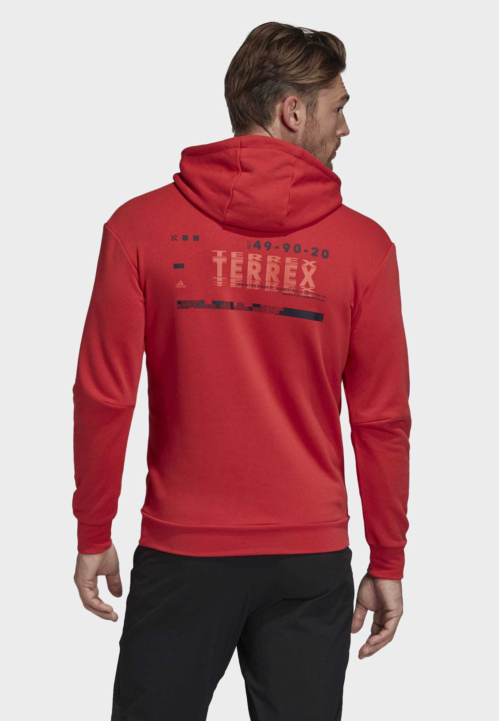 adidas Performance TERREX LOGO HOODIE - Sweat à capuche - red