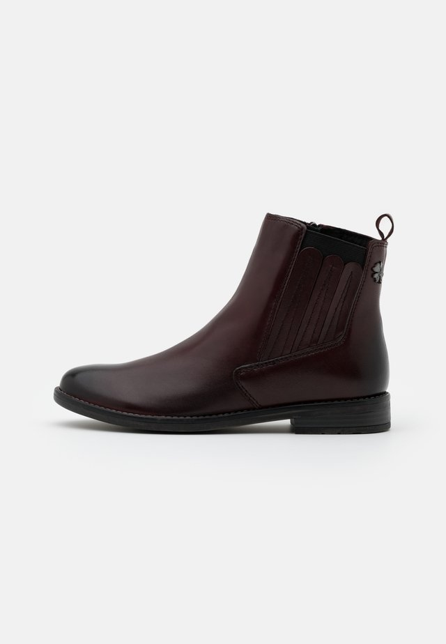 Ankle boots - bordeaux