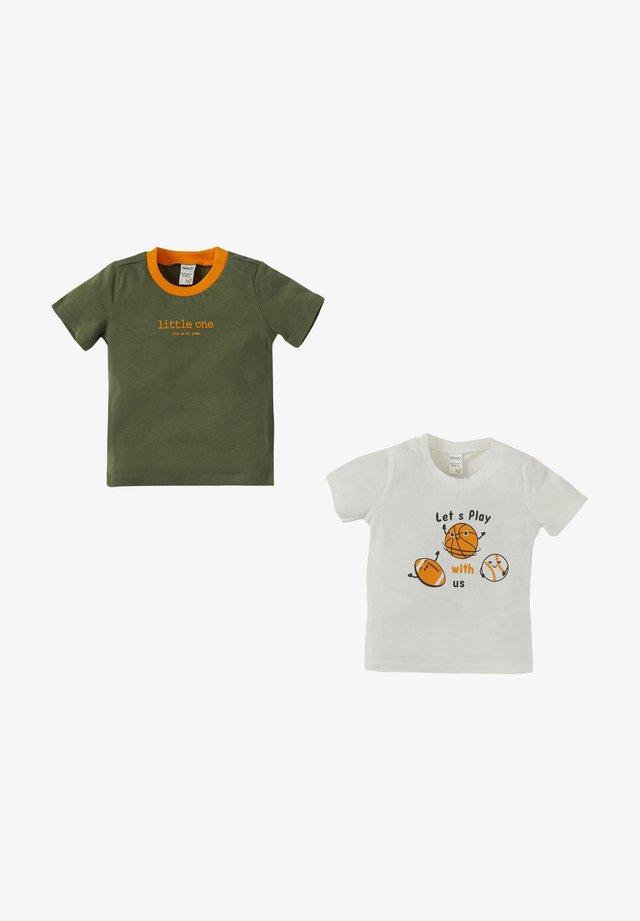 Camiseta estampada - ecru
