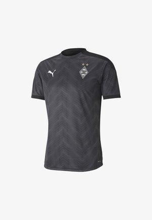 Print T-shirt - puma black-asphalt-white