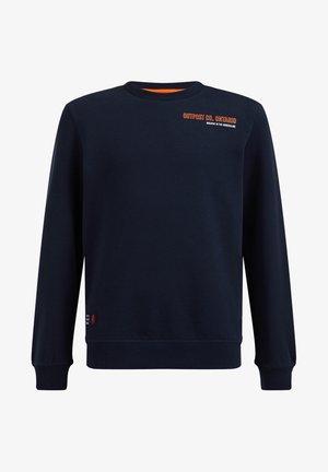 MET OPDRUK - Sweater - dark blue