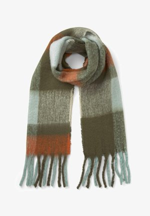 Scarf - olive mint colorblock
