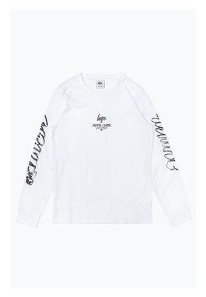 Pitkähihainen paita - white/black