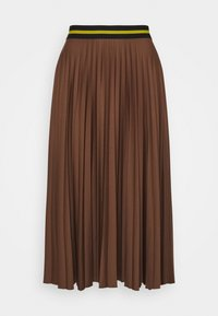 Esprit - PLEATED SKIRT - A-line skirt - brown - 0