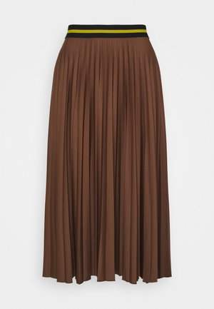 PLEATED SKIRT - A-line skirt - brown