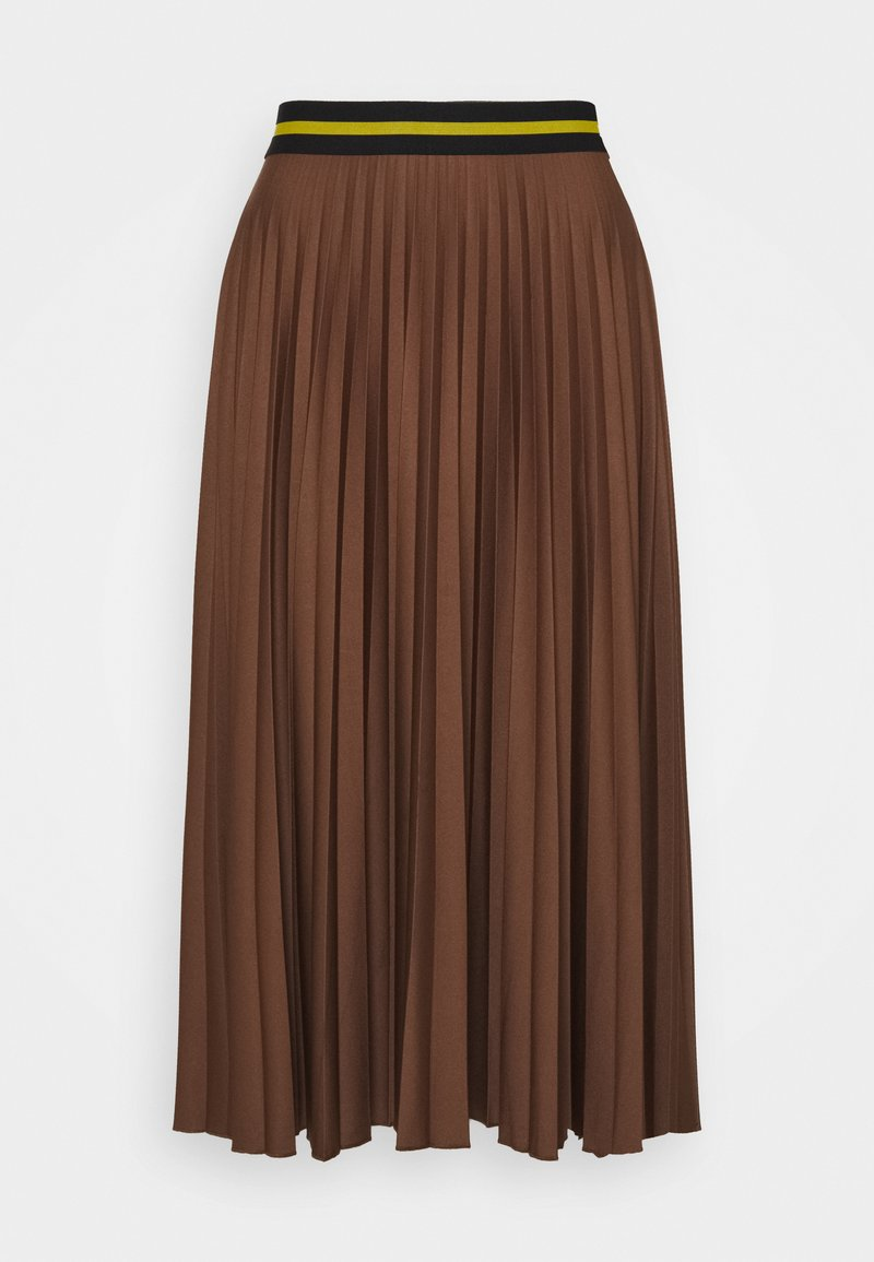 Esprit - PLEATED SKIRT - A-line skirt - brown