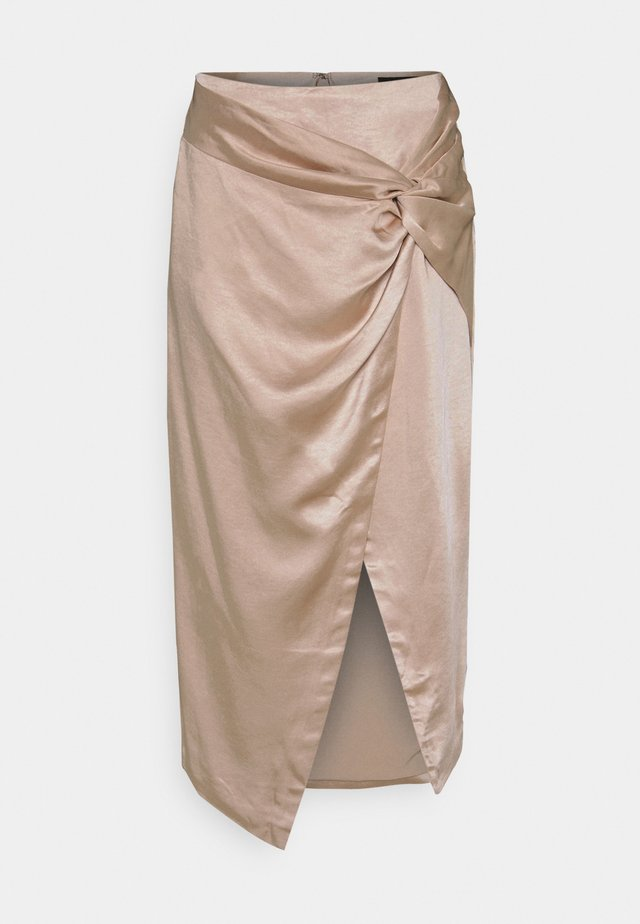 KISS SKIRT - Gonna a campana - champagne