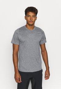 adidas Performance - FREELIFT AEROREADY TRAINING SHORT SLEEVE TEE - Basic T-shirt - grey four/white - 0