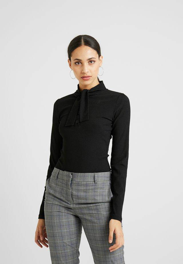 BODYSUIT - Long sleeved top - black