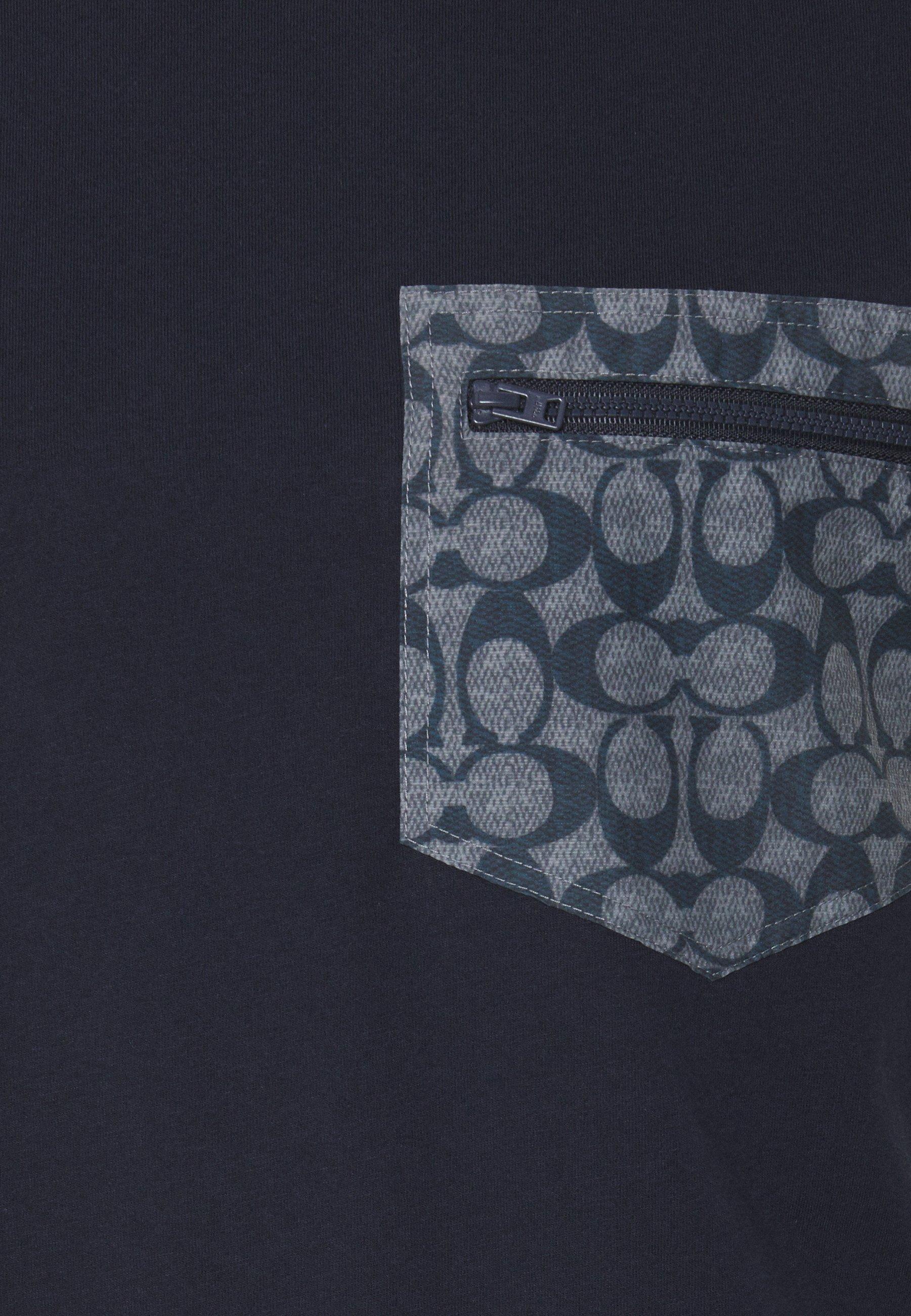Coach Print T-shirt - navy/chambray mUFPj