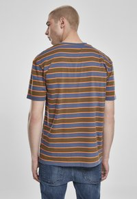 Urban Classics - YARN DYED BOARD STRIPE - T-shirts basic - summerolive/vintageblue - 3