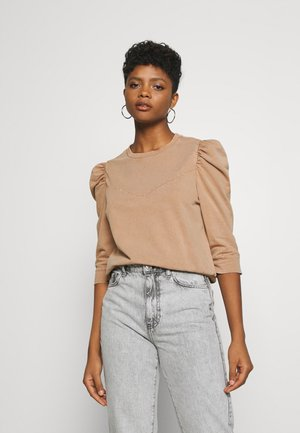 NMISAAC SLEEVE PUFF - Sweatshirt - brown sugar/acid wash
