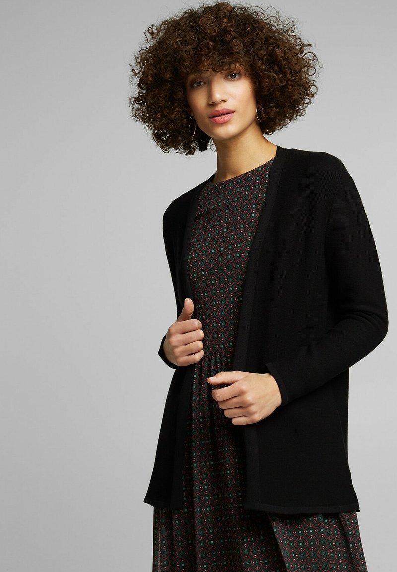 Esprit - THROW ON - Cardigan - black