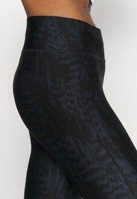 Casall - ICONIC PRINTED - Leggings - survive dark blue metallic - 4
