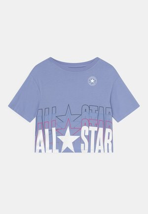 ALL STAR REPEAT BOXY TEE - T-shirt con stampa - blue heron