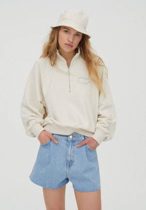 Zip-up hoodie - beige