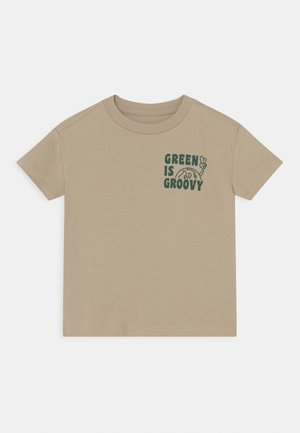 TODDLER BOY EASY TEE - T-shirt print - sand/khaki