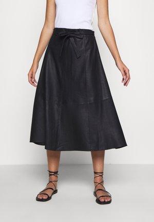 A SKIRT BELT - Áčková sukně - black