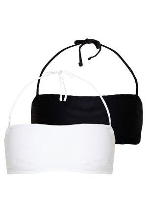 2 PACK - Bikini top - white/black