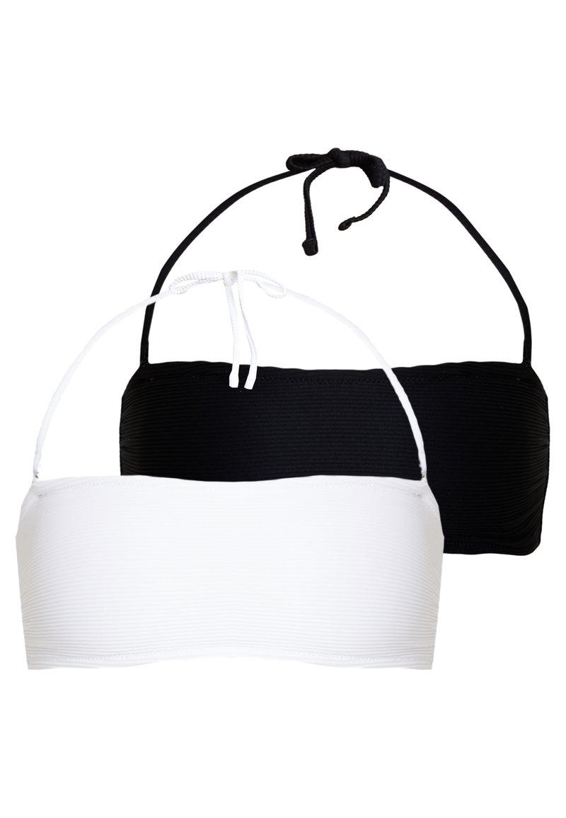 Anna Field - 2 PACK - Bikini top - white/black