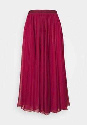 PRIMIZIA - Áčková sukně - burgundy