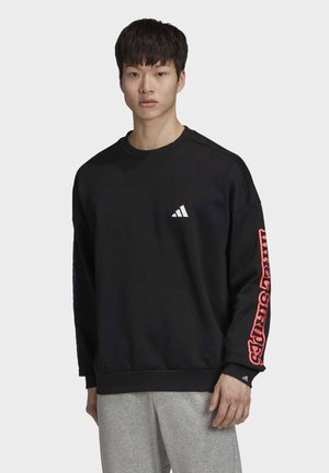 THE 3-STRIPES GRAPHIC SWEATSHIRT - Sweatshirt - black
