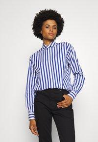 Polo Ralph Lauren - LONG SLEEVE - Button-down blouse - white/medium blue - 0