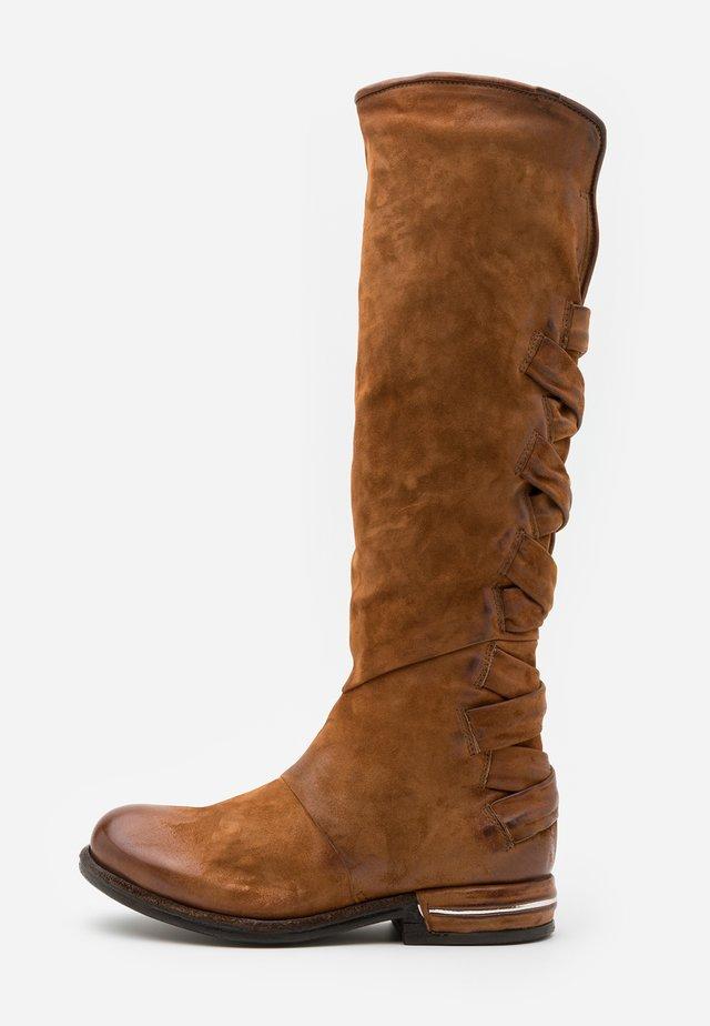 Cowboy/Biker boots - calvados