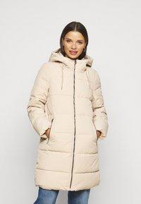 ONLY Petite - ONLDOLLY LONG PUFFER COAT - Winter coat - humus - 0