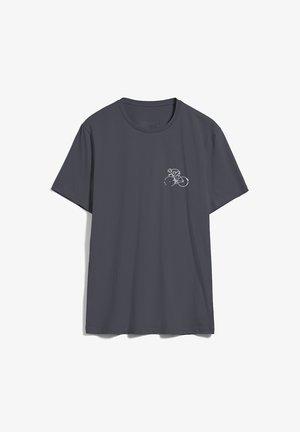 JAAMES BIKE SEASON - Print T-shirt - acid black