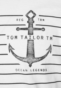 TOM TAILOR - PRINTED HARBOUR STRIPE - Print T-shirt - off white - 6
