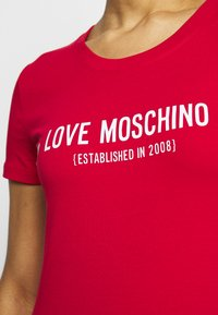 Love Moschino - Print T-shirt - red - 5