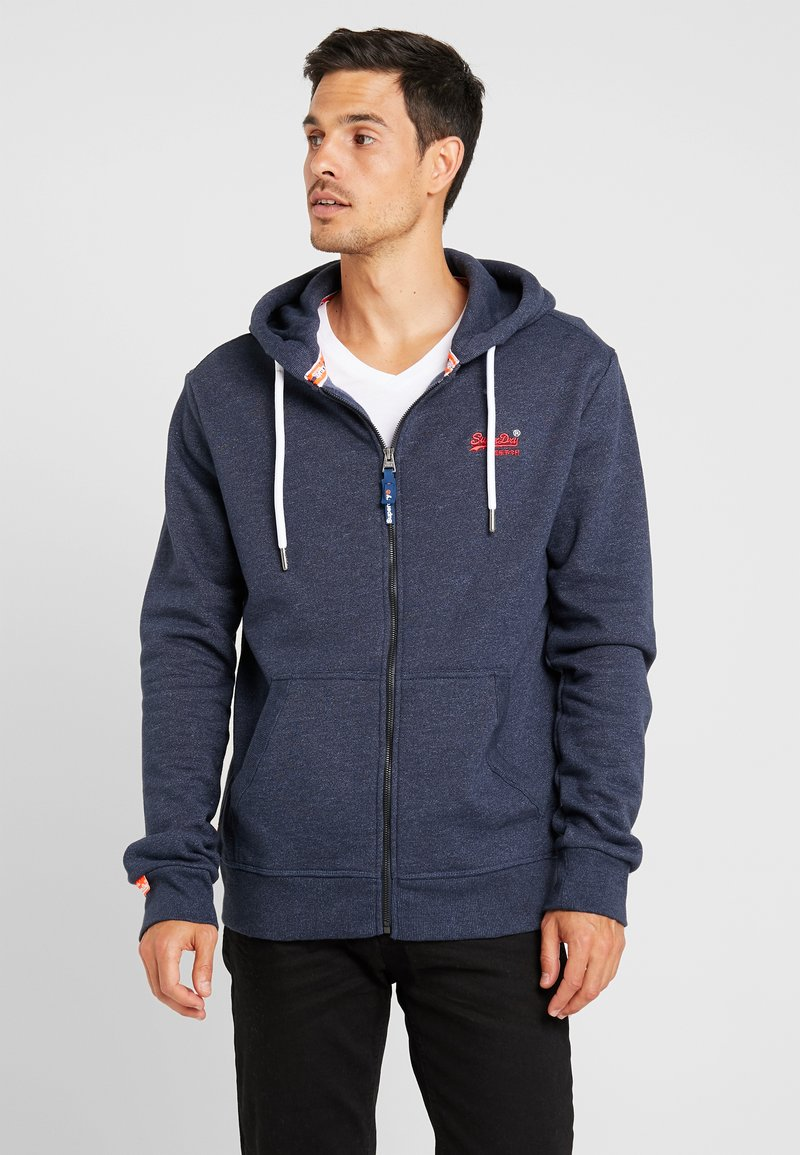Superdry - ORANGE LABEL CLASSIC ZIPHOOD - Zip-up hoodie - midnight blue feeder