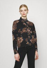 ONLY - ONLALICE ZIP - Zip-up sweatshirt - black - 0