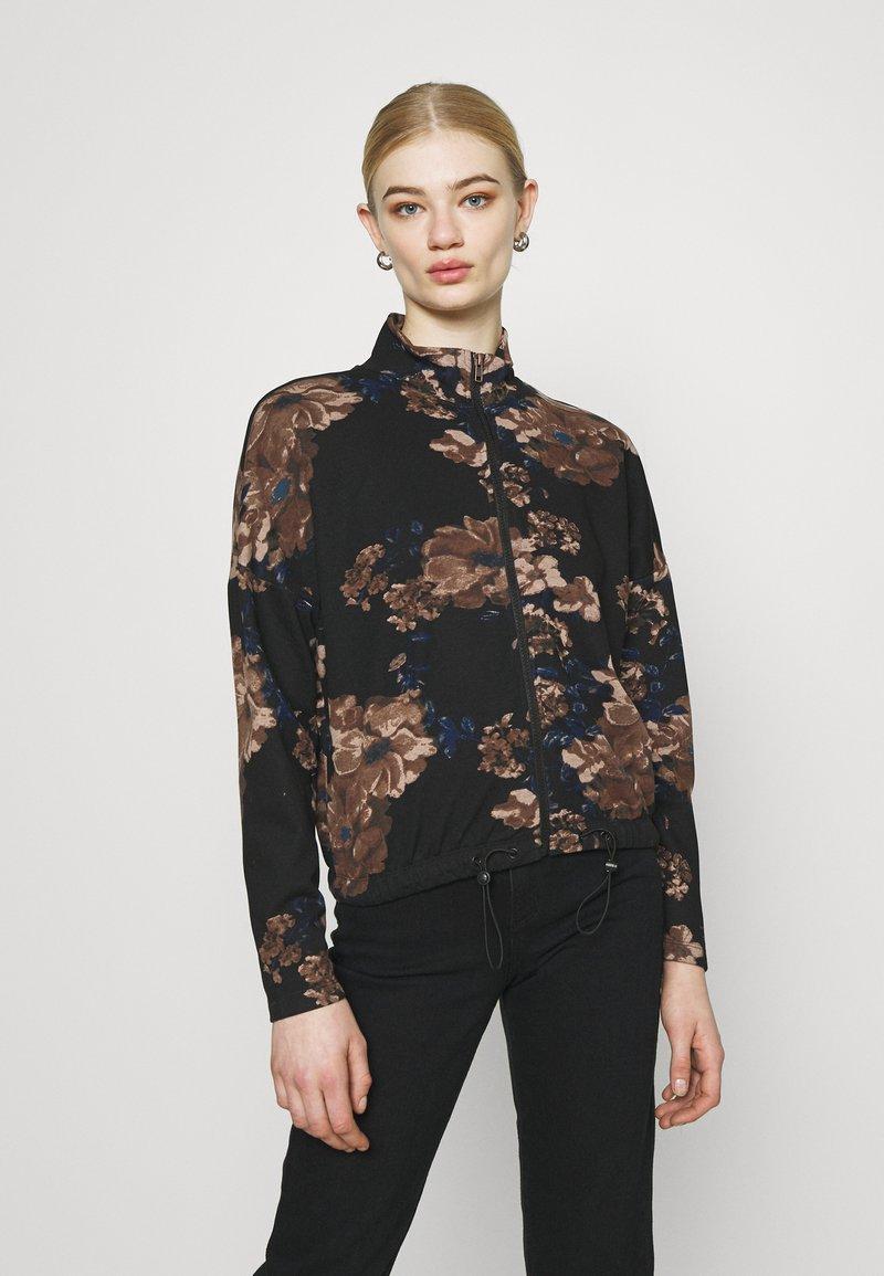 ONLY - ONLALICE ZIP - Zip-up sweatshirt - black